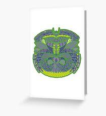 Green Ornate Decor Greeting Card