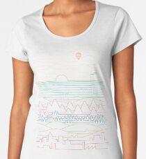 Lineare Landschaft Premium Rundhals-Shirt
