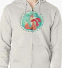 Unique In All The World Fox Zipped Hoodie