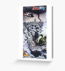 Sim City, Restored Poster from Nintendo Power Magazine Greeting Card