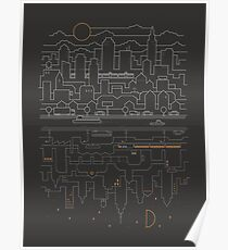 City 24 (Grey) Poster