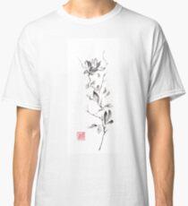 Magnolia scroll sumi-e painting Classic T-Shirt