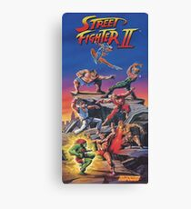 Street Fighter 2, Restored / Reprinted Vintage Retro Gaming Poster Canvas Print
