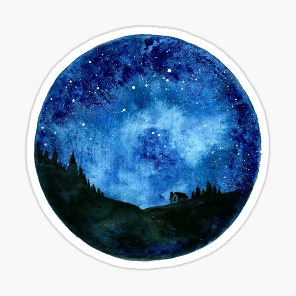 Stars in the Night Sky Sticker
