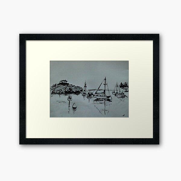 Ketch Sketch Framed Art Print