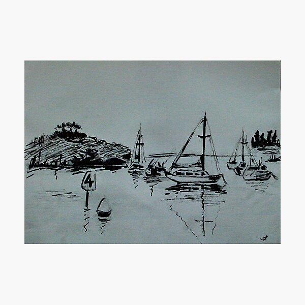 Ketch Sketch Photographic Print