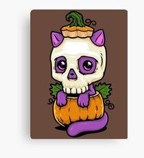 Pumpkitten Canvas Print