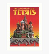 Tetris, Restoration of Original Game Poster, from Nintendo Power  Art Print