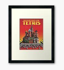 Tetris, Restoration of Original Game Poster, from Nintendo Power  Framed Print