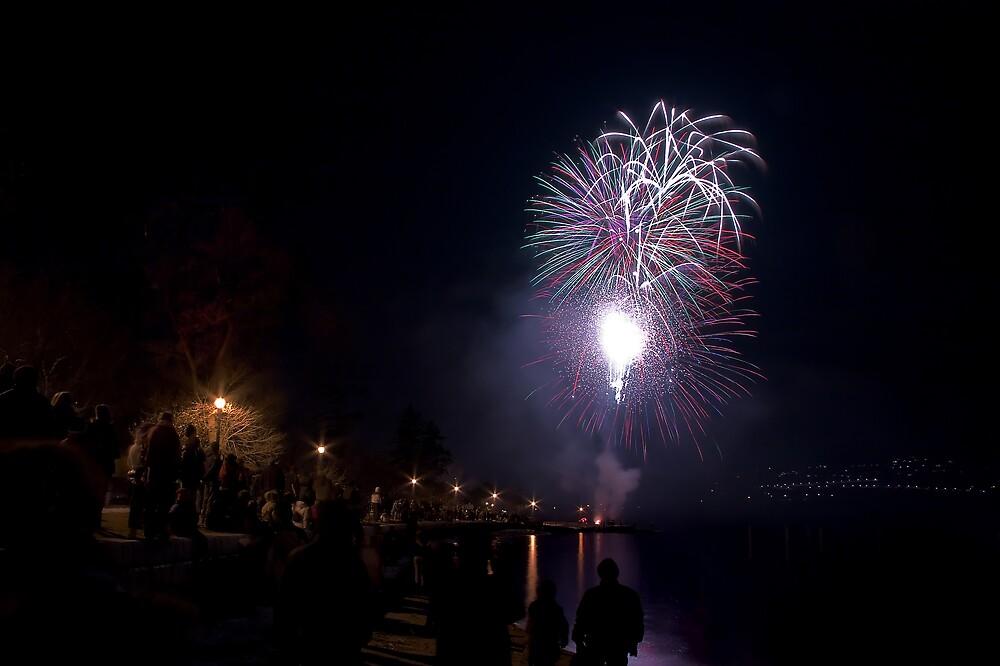 Fireworks & Crowd by Shawn Fennell