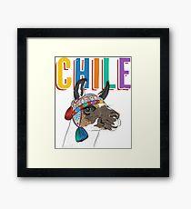 Chile Llama/Alpaca Graphic Framed Print