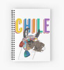 Chile Llama/Alpaca Graphic Spiral Notebook