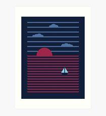 Plain Sailing Art Print