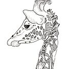 Giraffe Portrait by Adam Regester