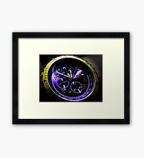 Gold and blue watch Framed Print