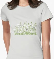 Queen Anne Lace Womens Fitted T-Shirt