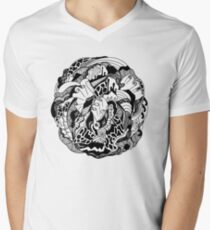 Abstract Wave of Thoughts 1 V-Neck T-Shirt