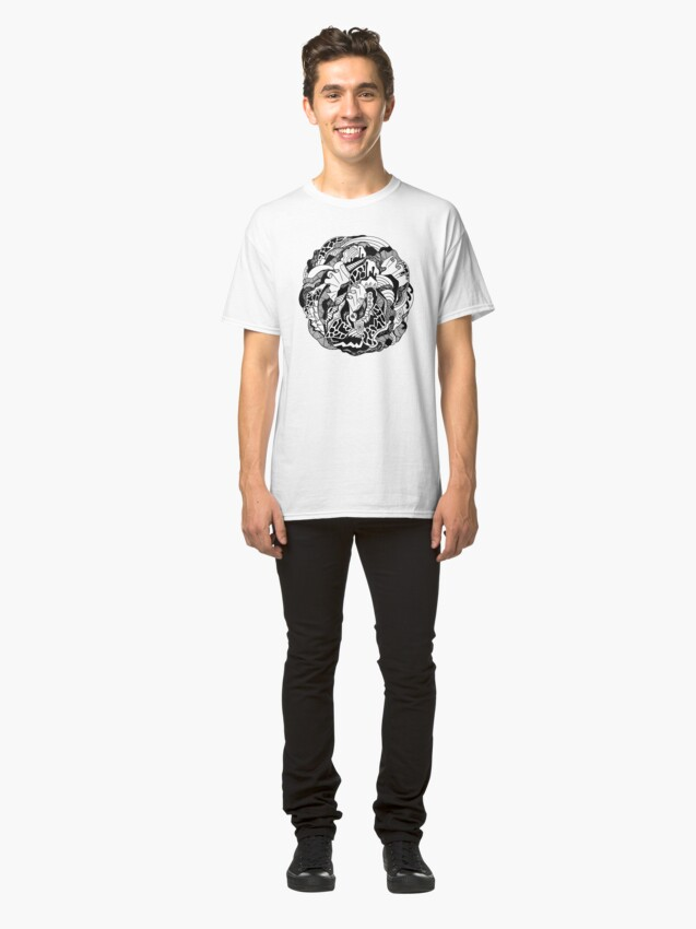 Alternate view of Abstract Wave of Thoughts 1 Classic T-Shirt