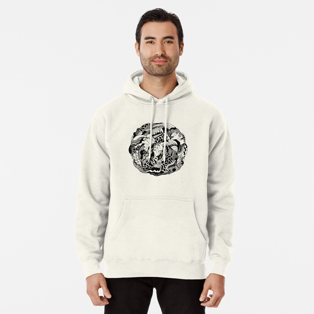 Abstract Wave of Thoughts 1 Pullover Hoodie