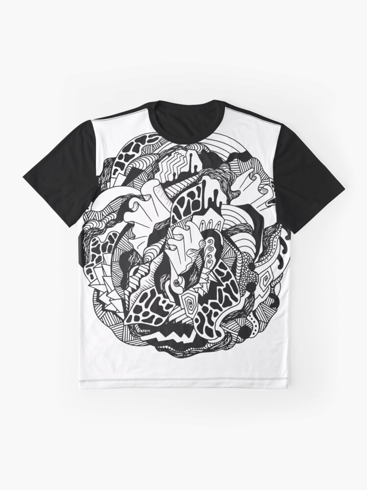 Alternate view of Abstract Wave of Thoughts 1 Graphic T-Shirt
