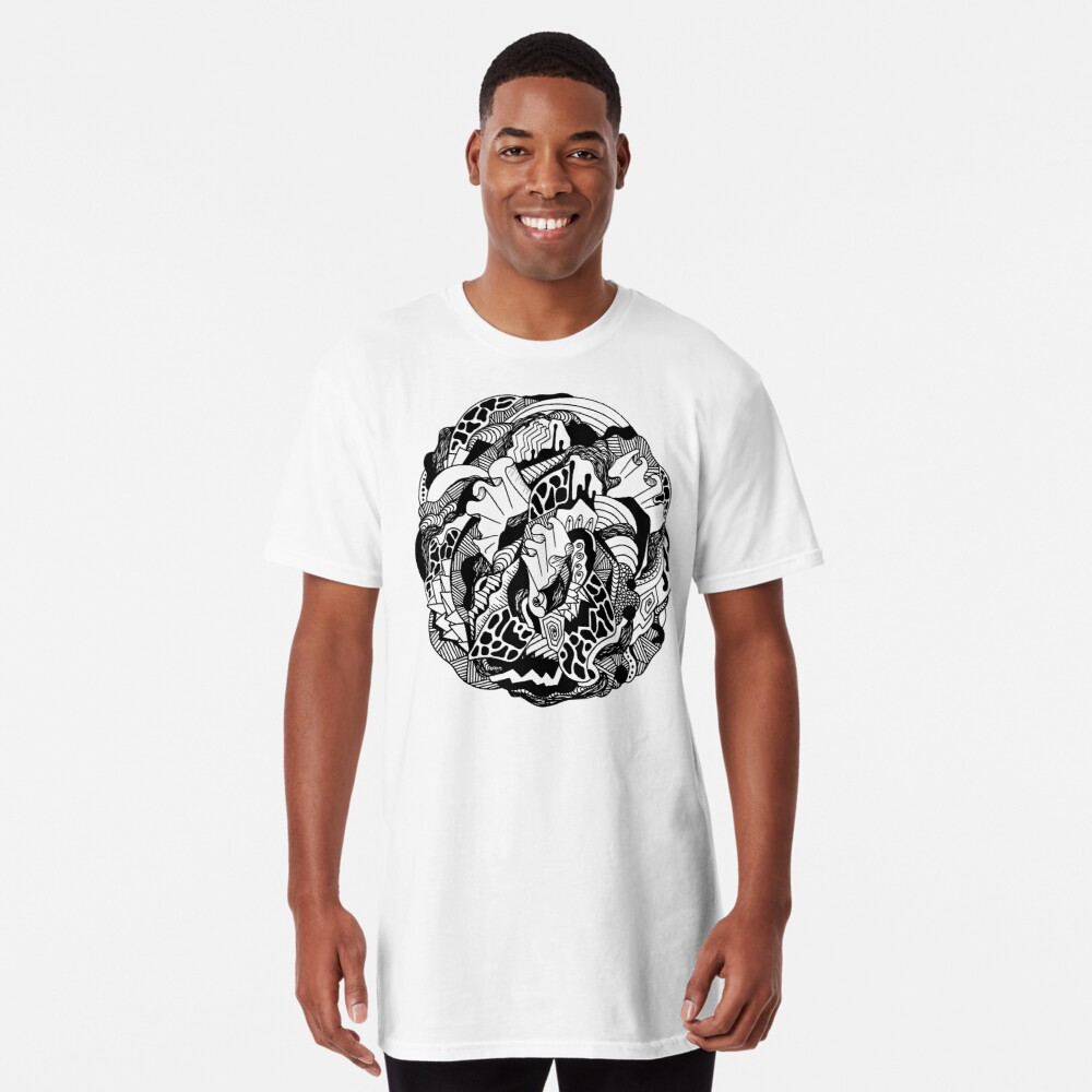 Abstract Wave of Thoughts 1 Long T-Shirt