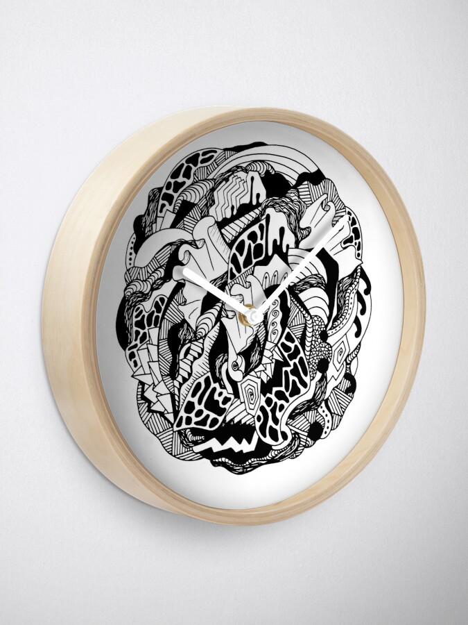 Alternate view of Abstract Wave of Thoughts 1 Clock