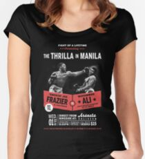 Ali vs Frazier - Thrilla in Manila Women's Fitted Scoop T-Shirt