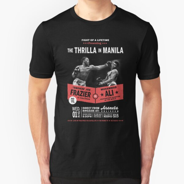 Ali vs Frazier - Thrilla in Manila Slim Fit T-Shirt