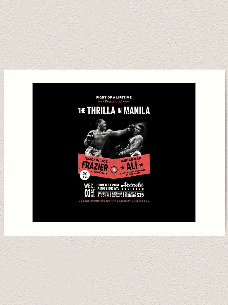 BOXING THRILLA IN MANILA ALI FRAZIER FIGHT PHILIPPINES Sport Canvas art Prints