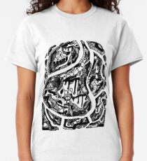 Abstract Wave of Thoughts 3 Classic T-Shirt