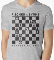 Camiseta para hombre de cuello en v FISCHER v. BYRNE