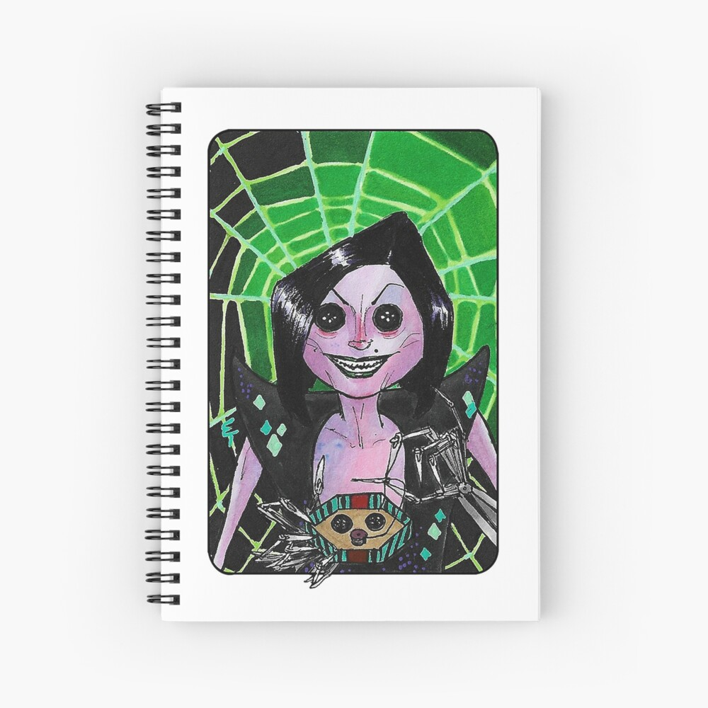 Villain Clans Other Mother From Coraline Spiral Notebook By Emilytabet Redbubble