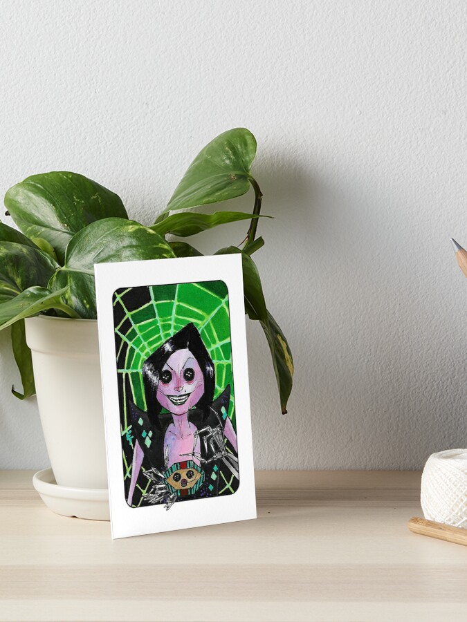 Villain Clans Other Mother From Coraline Art Board Print By Emilytabet Redbubble