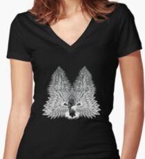 Crystal Fox Women's Fitted V-Neck T-Shirt