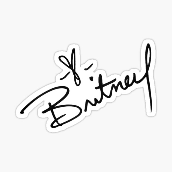 Britney Spears Signature Pegatina