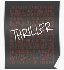 Thriller Lyrics - Michael Jackson Poster