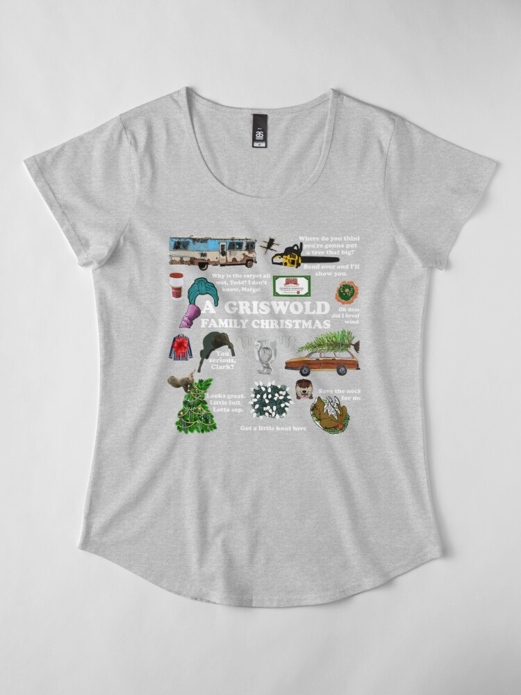 Alternate view of Christmas Vacation Collage Premium Scoop T-Shirt