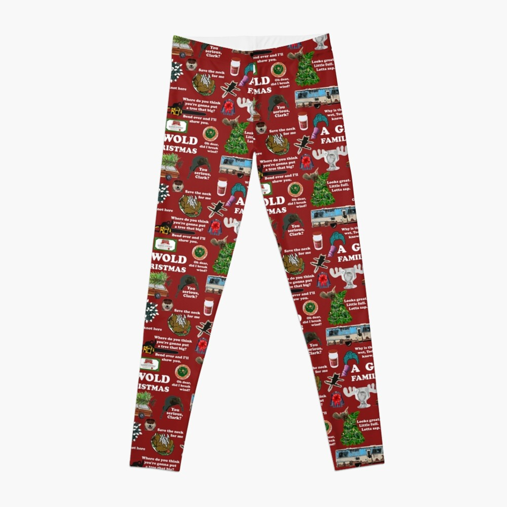 Christmas Vacation Collage Leggings