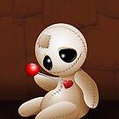 Voodoo Doll Cartoon in Love by BluedarkArt