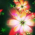 Fractal Flowers No. 001 by Jo Newman