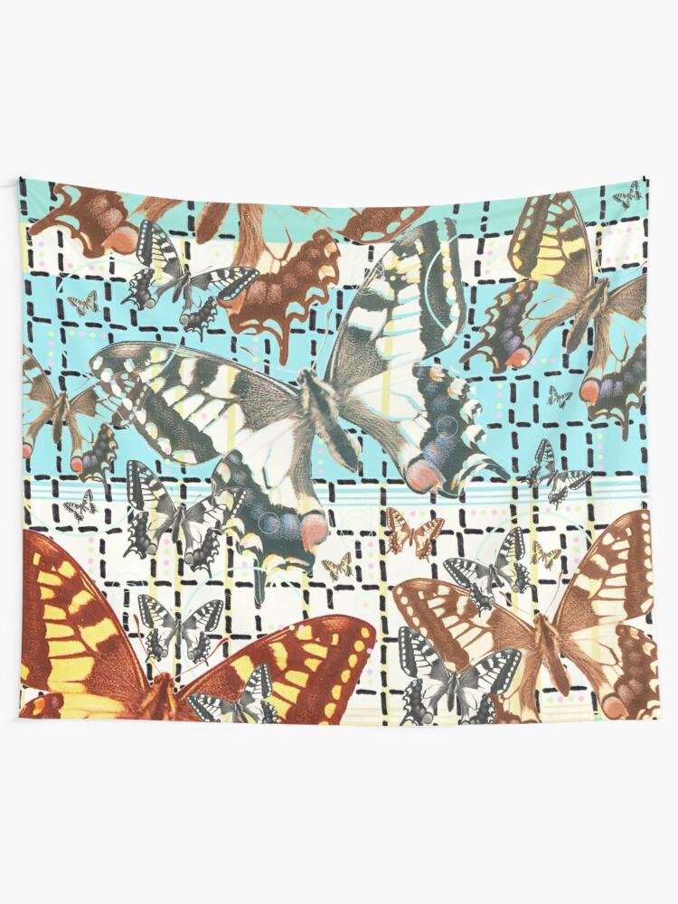 Alternative Ansicht von Schwalbenschwanz Schmetterling  Wandbehang