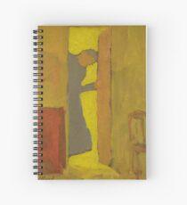 The Artist's Mother Opening a Door by Edouard Vuillard Spiral Notebook
