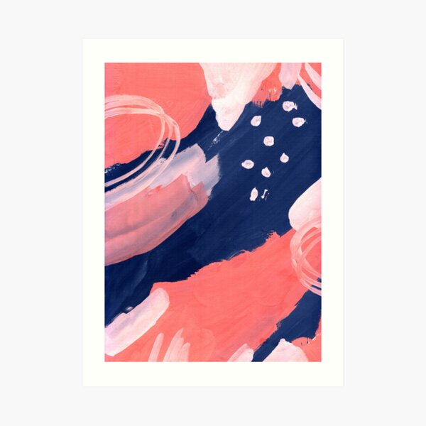 Pink Abstraction Art Print