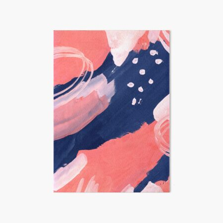 Pink Abstraction Art Board Print