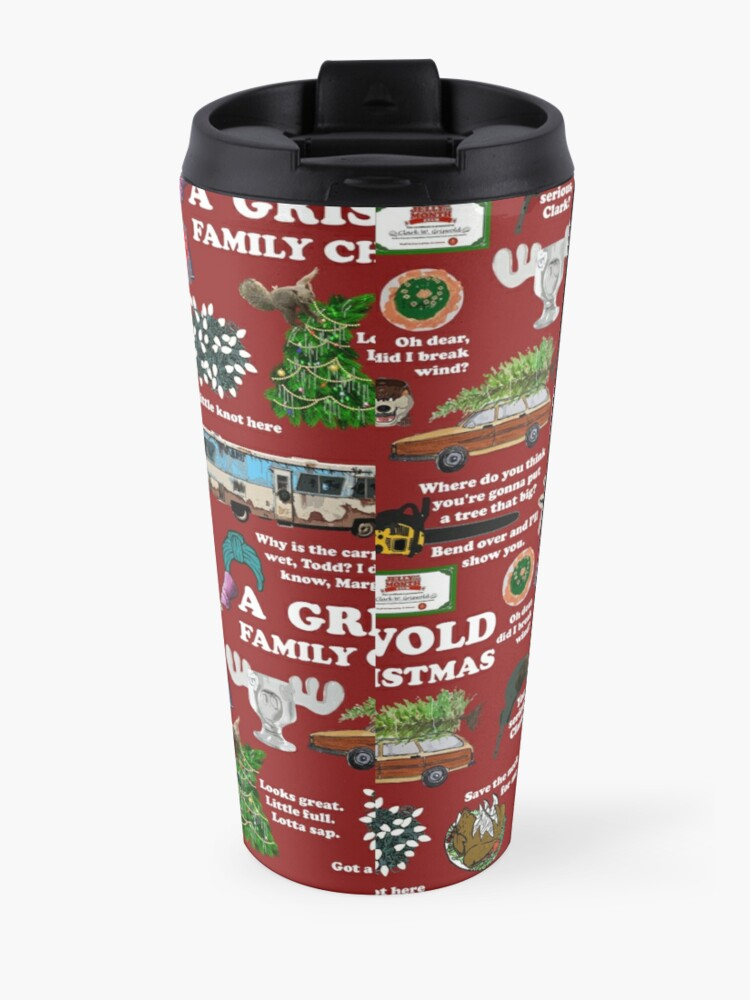 Alternate view of Christmas Vacation Collage Travel Mug
