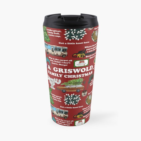 Christmas Vacation Collage Travel Mug