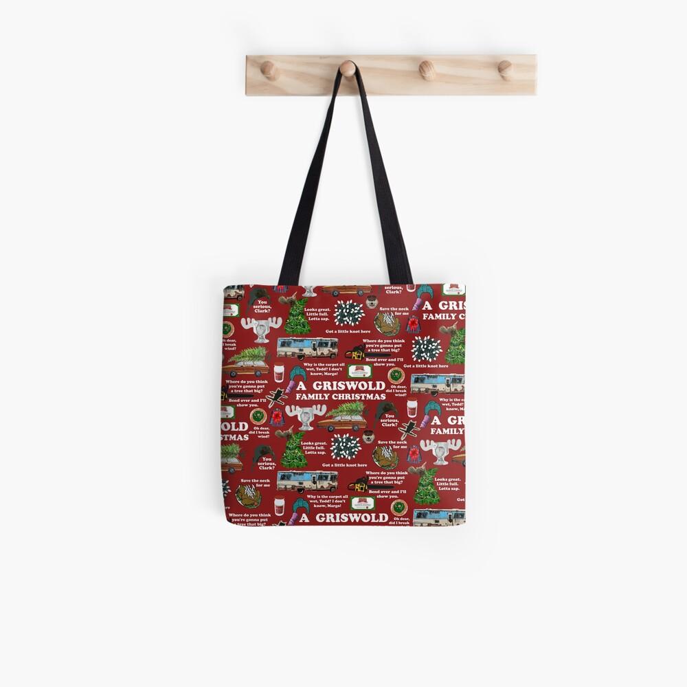 Christmas Vacation Collage Tote Bag