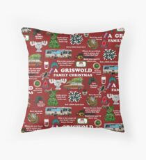 Christmas Vacation Collage Throw Pillow