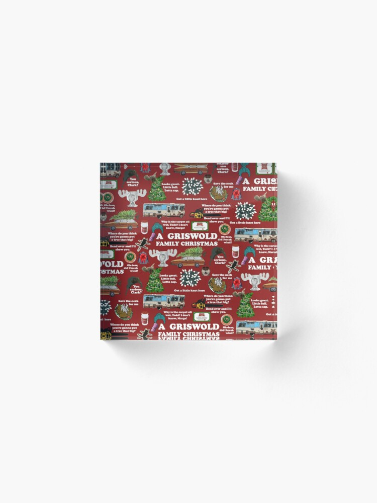 Alternate view of Christmas Vacation Collage Acrylic Block