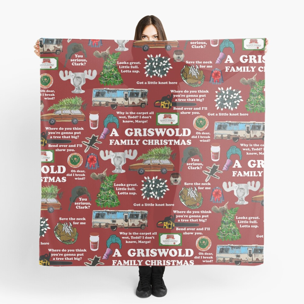 Christmas Vacation Collage Scarf